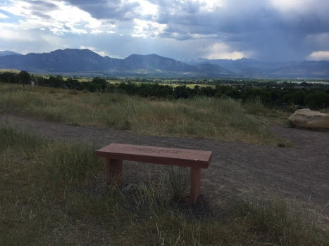 one of the memorial benches