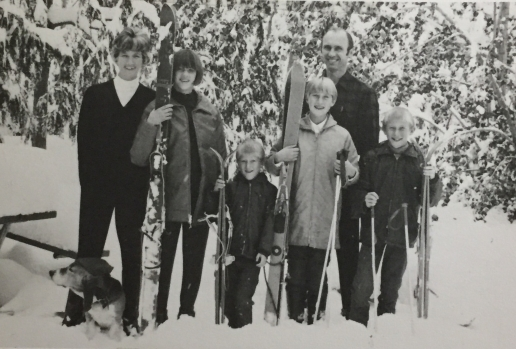 Snowy backyard, 1968