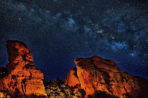 The milky way in the grand canyon.Photo from PIxabay