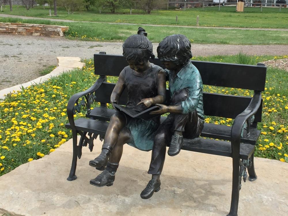 sculpture bench